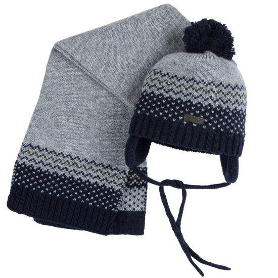 Комплект Chicco Travis: шапка и шарф, арт. 090.04937.095, цвет Серый