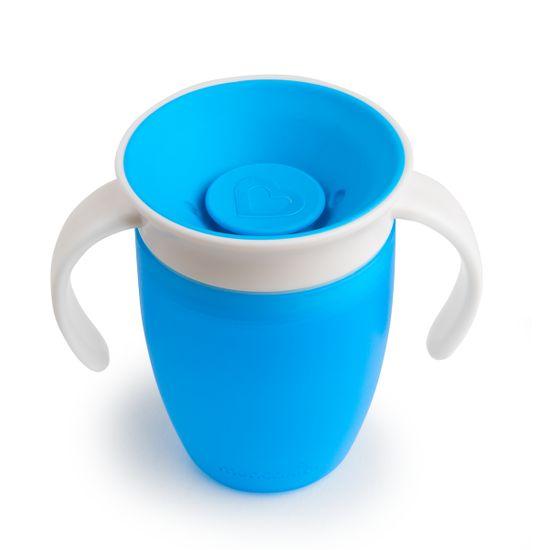 """Чашка непроливная Munchkin """"Miracle 360"""" с ручками, 207 мл, арт. 01209401, цвет Голубой"""