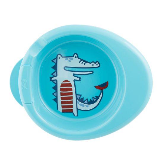 Термоустойчивая тарелка Chicco Warmy Plate, 6м+, арт. 16000, цвет Голубой