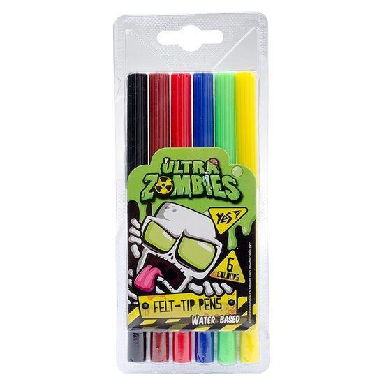"""Фломастеры YES """"Zombie"""", 6 цв., арт. 650388"""