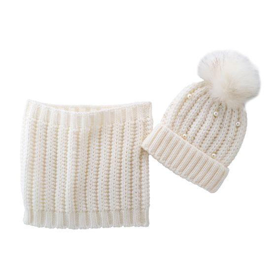 Комплект Chicco Snow white: шапка и шарф, арт. 090.04746.030, цвет Белый
