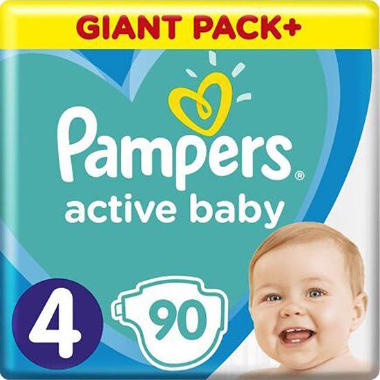 Подгузники Pampers Active Baby, размер 4, 9-14 кг, 90 шт, арт. 8001090950376