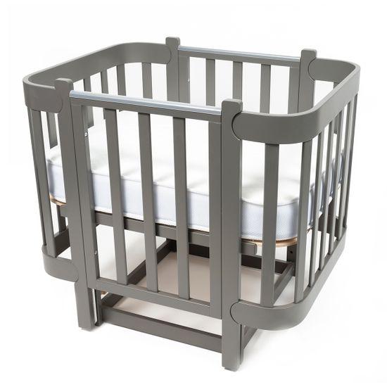 Кроватка-люлька Piccolino Sweet Dreams, арт. 1150, цвет Серый