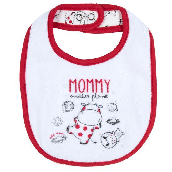 Слюнявчик Chicco Planet Mommy, арт. 090.32645.030, цвет Белый