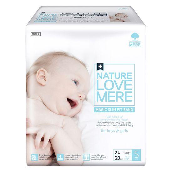 Подгузники Nature Love Mere Magic Slim Fit, размер 5 (XL), от 12 кг, 20 шт, арт. 8809402093755