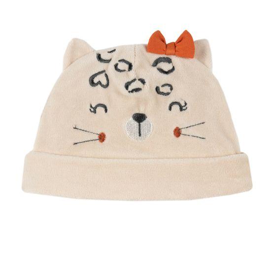 Шапка велюровая Chicco Cute kitten, арт. 090.04930.061, цвет Бежевый