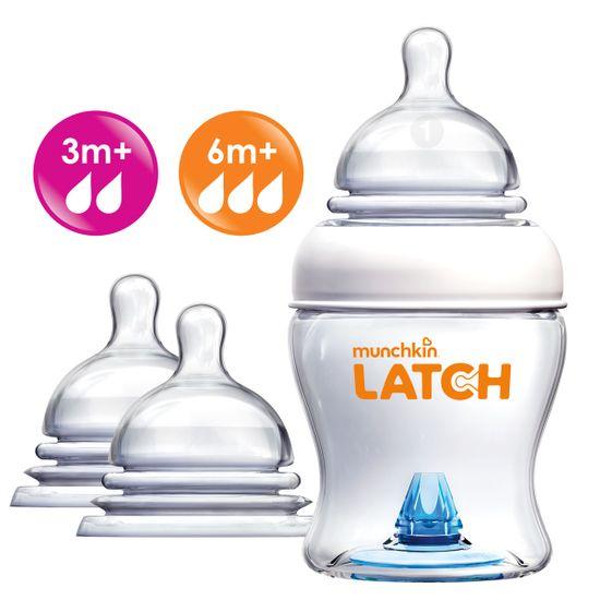 Набор Munchkin Latch: бутылочка 120мл и соски 3м+, 6м+, арт. 011614.3-6