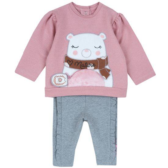Костюм Chicco Nature: джемпер и брюки, арт. 090.07437.015, цвет Розовый