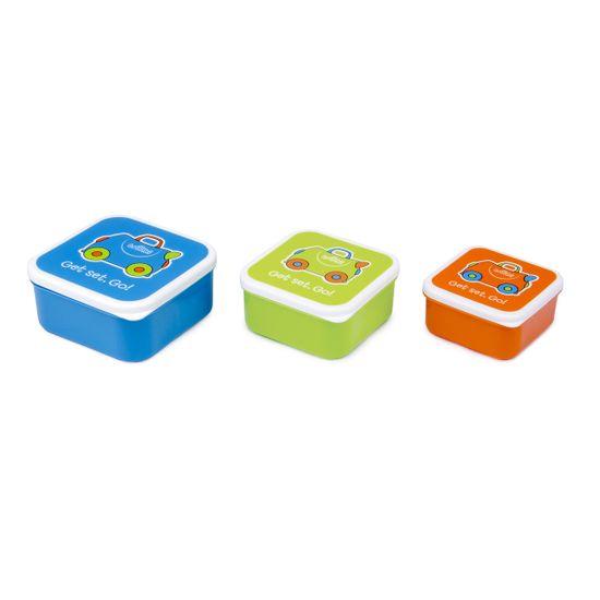 Набор контейнеров для еды Trunki (голубой, салатовый, оранжевый), арт. 0299-GB01, цвет Голубой