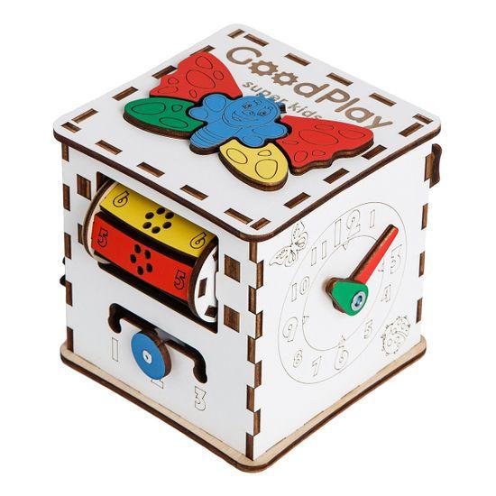 """Бизиборд GoodPlay """"Кубик Малюк"""", 12х12х12 см, арт. K001"""