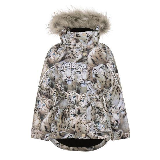 Термокуртка Molo Cathy Fur Snowy Leopards, арт. 5W21M304.6348, цвет Бежевый