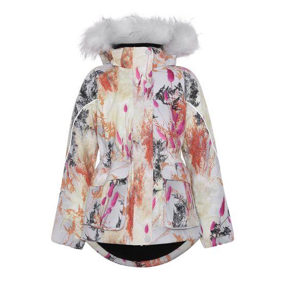 Термокуртка Molo Cathy Fur Eternal Flowers, арт. 5W21M304.6351, цвет Бежевый