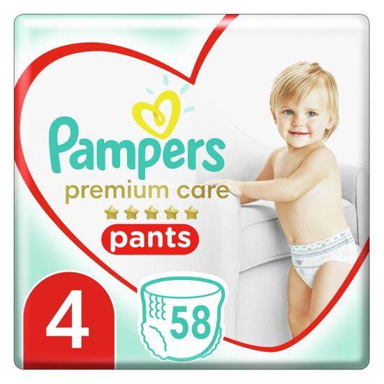 Подгузники-трусики Pampers Premium Care, размер 4, 9-15 кг, 58 шт, арт. 8001090759993