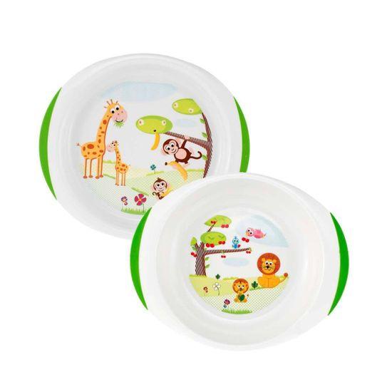 Набор тарелок Chicco, 12м+, 2 шт, арт. 06827
