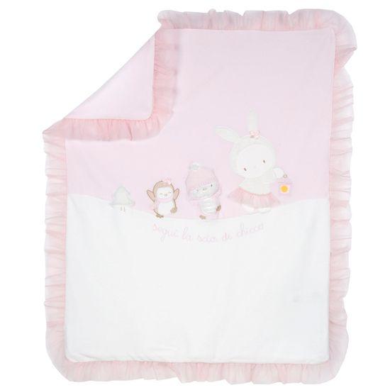 Одеяло Chicco Little Bunny, арт. 090.05180.011, цвет Розовый