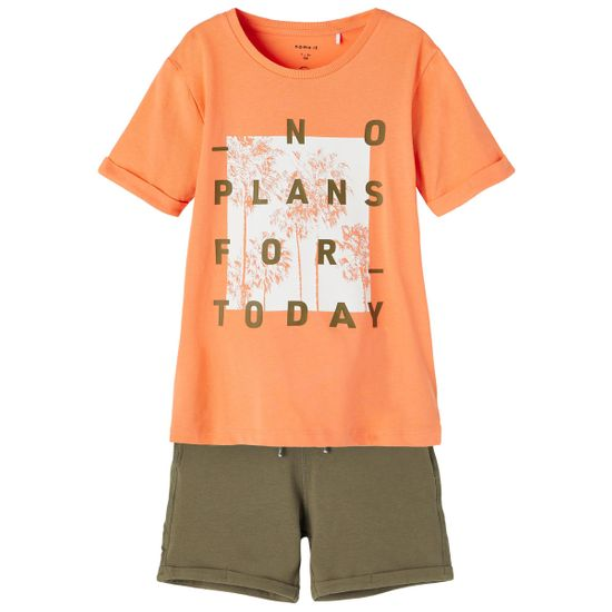 Костюм Name it Waves: футболка и шорты, арт. 211.13187594.MELO, цвет Оранжевый