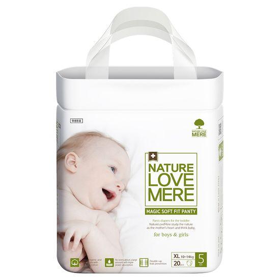 Подгузники-трусики Nature Love Mere Magic Soft Fit, размер 5 (XL), 10-14 кг, 20 шт, арт. 8809402093700