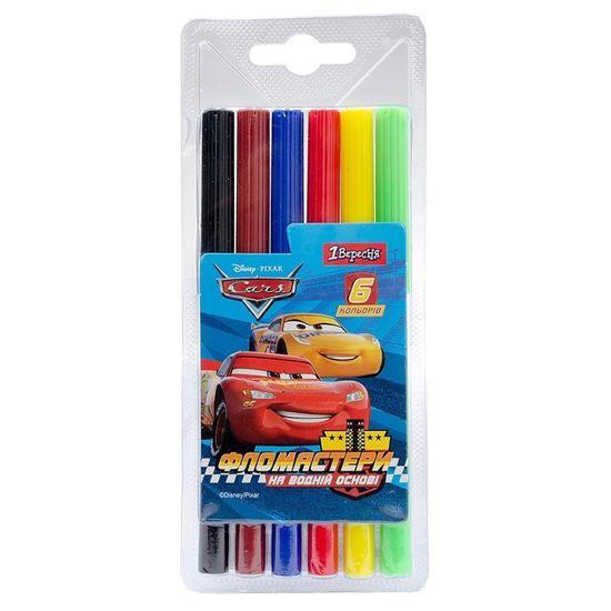 """Фломастеры 1Вересня """"Cars"""", 6 цв., арт. 650416"""