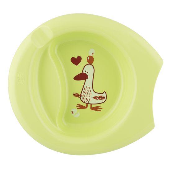 Тарелка Chicco Easy Feeding, 6м+, арт. 16001.40, цвет Салатовый