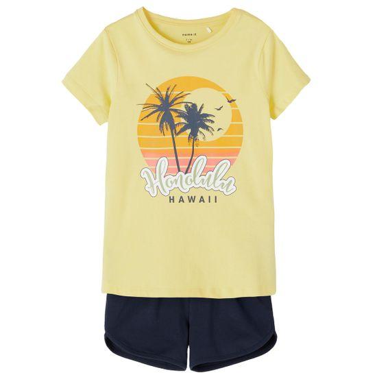 Костюм Name it Tropics: футболка и шорты, арт. 211.13187733.POPC, цвет Желтый
