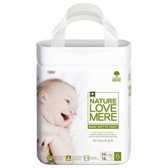 Подгузники-трусики Nature Love Mere Magic Soft Fit, размер 6 (XXL) от 13 кг, 18 шт, арт. 8809402093717