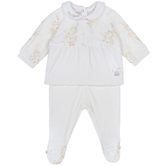 Костюм Chicco Joyce: рубашка и ползунки, арт. 090.07434.030, цвет Белый