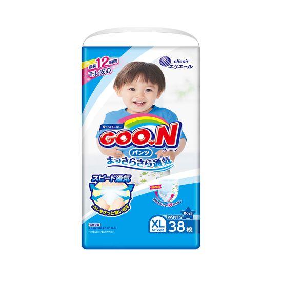 Подгузники-трусики Goo.N для мальчика, размер XL, 12-20 кг, 38 шт , арт. 843098