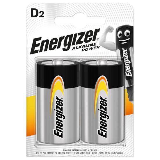 Батарейки Energizer D Alk Power, 2 шт., арт. 6429546