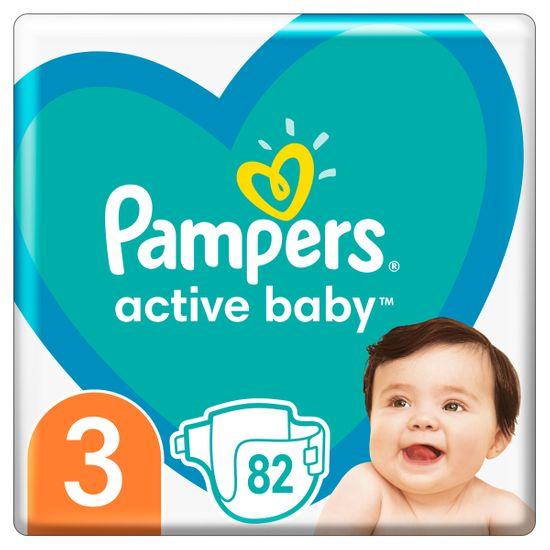 Подгузники Pampers Active Baby, размер 3, 6-10 кг, 82 шт, арт. 8001090948175