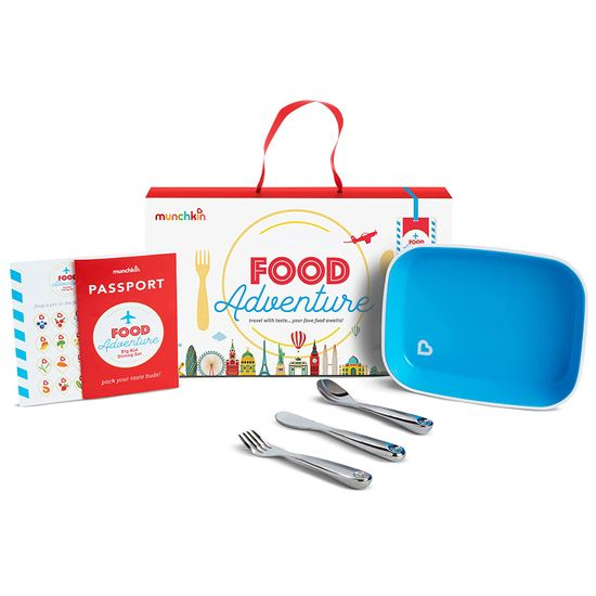 "Набор посуды Munchkin ""Food adventure"", арт. 051896, цвет Голубой"