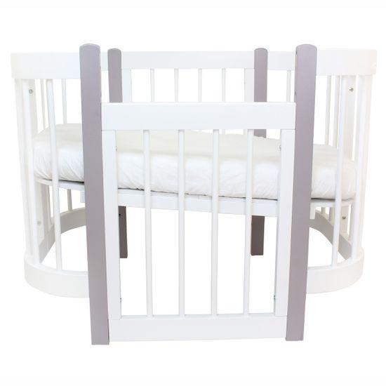 Кроватка-трансформер 3 в 1 Piccolino Sweet Dreams, арт. 11501, цвет Белый с серым