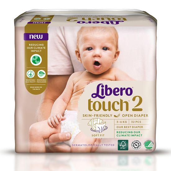 Подгузники Libero Touch, размер 2, 3-6 кг, 32 шт, арт. 7978