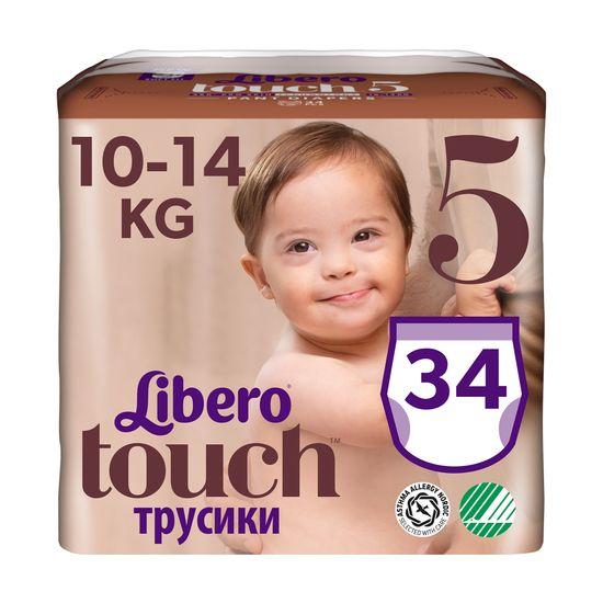 Подгузники-трусики Libero Touch, размер 5, 10-14 кг, 34 шт., арт. 8248-01