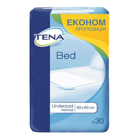 Пеленки одноразовые Tena Bed Normal 60х60см, 30 шт, арт. 770037-04