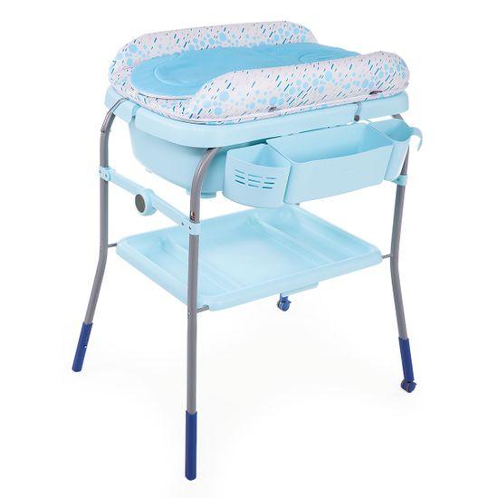 Пеленальный столик с ванночкой Chicco Cuddle&Bubble, арт. 79348, цвет Голубой