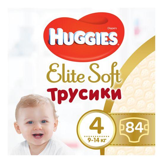 Подгузники-трусики Huggies Elite Soft, размер 4(L), 9-14 кг, 84 шт, арт. 5029053547107