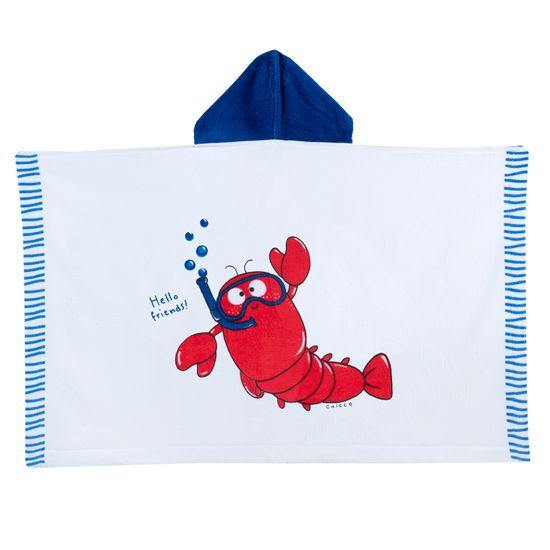 Полотенце Chicco Cool lobster, арт. 090.40974.037, цвет Голубой с белым