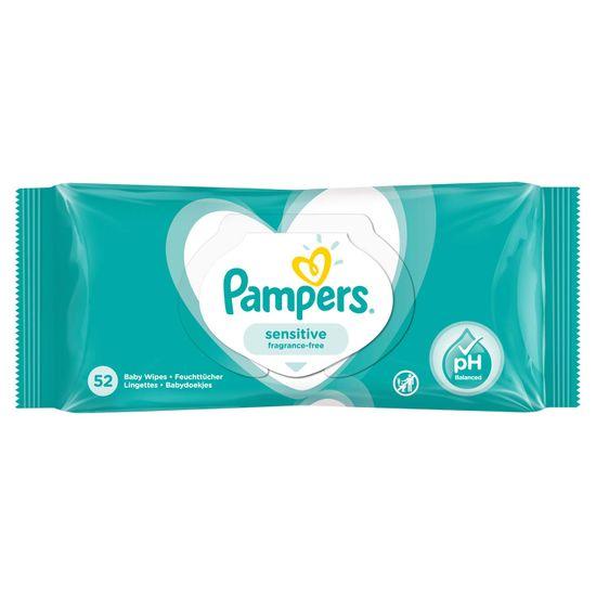 Детские влажные салфетки Pampers Sensitive, 52 шт, арт. 8001841041391