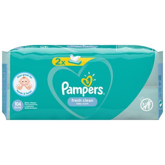 Детские влажные салфетки Pampers Fresh Clean, 2 уп.х52 шт, арт. 8001841077703