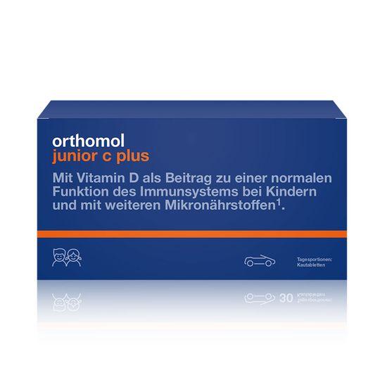 """Витамины для детей Orthomol """"Junior C plus"""", 7 дней, гранулы малина/лайм, арт. 10013222"""