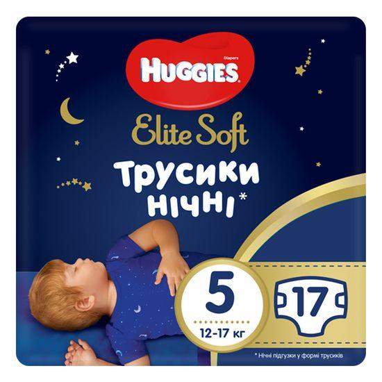Подгузники-трусики Huggies Elite Soft Overnites, размер 5, 12-17 кг, 17 шт, арт. 5029053548173