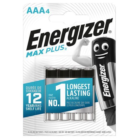 Батарейки Energizer AAA Max Plus, 4 шт., арт. 6450604