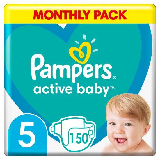 Подгузники Pampers Active Baby, размер 5, 11-16 кг, 150 шт, арт. 8001090910981