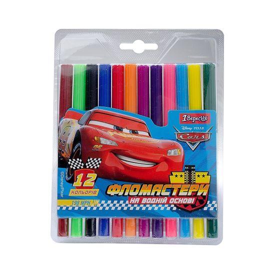 """Фломастеры 1Вересня """"Cars"""", 12 цв., арт. 650405"""