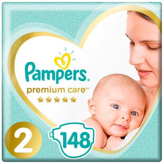 Подгузники Pampers Premium Care, размер 2, 4-8 кг, 148 шт, арт. 4015400770275