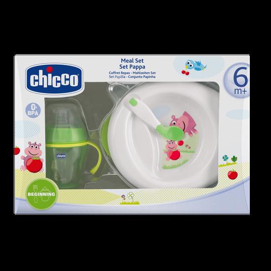 Набор: тарелка, чашка и ложка Chicco, 6м+, арт. 06832