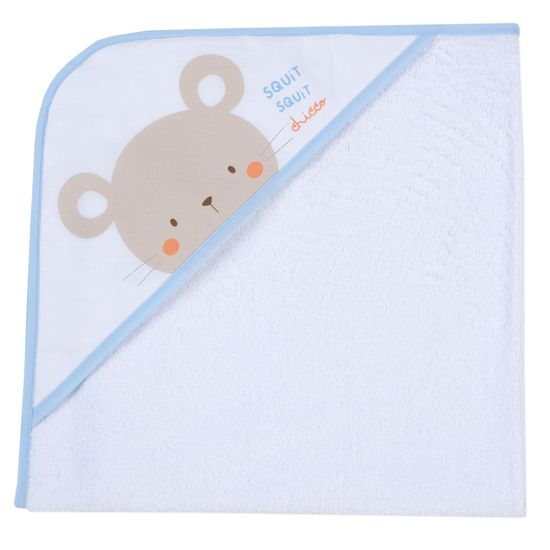 Полотенце Chicco Cute mouse, арт. 090.40988.021, цвет Голубой