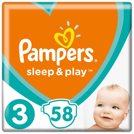 Подгузники Pampers Sleep & Play, размер 3, 6-10 кг, 58 шт, арт. 4015400224211
