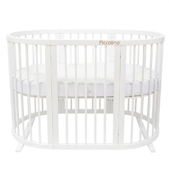 Кроватка-трансформер 9 в 1 Piccolino Little Star, арт. 11502, цвет Белый
