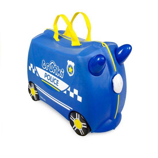 "Детский чемодан Trunki ""Percy Police Car"", арт. 0323-GB01-UKV, цвет Синий"
